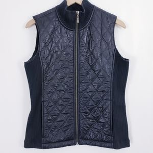 Prana black quilted puffer vest jacket sz M